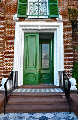 Photograph - Green Door Charleston by Lori Kesten