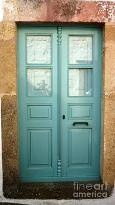 Door Painting - Green Door Of Greece by Therese Alcorn