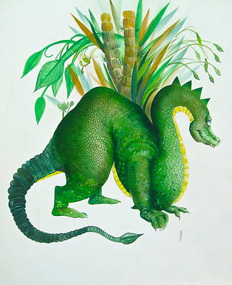 Green Dragon Art Print by Richard Yoakam