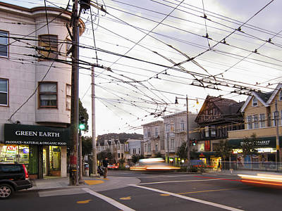 Crosswalk Photograph - Green Earth Foods - San Francisco by Daniel Hagerman