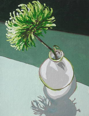 Painting - Green Flower With Vase by Sandy Tracey