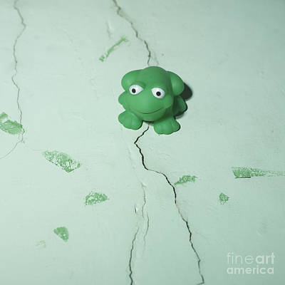 Green Frog Art Print by Bernard Jaubert