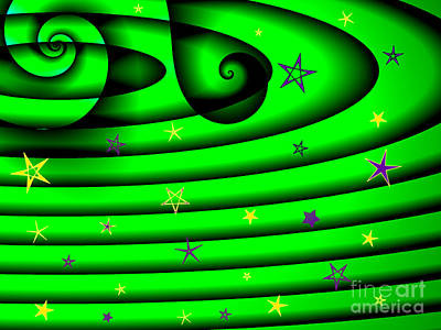 Royalty-Free and Rights-Managed Images - Green Galaxy by Jeannie Atwater Jordan Allen