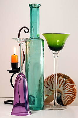 Photograph - Green Glass by Elf Evans