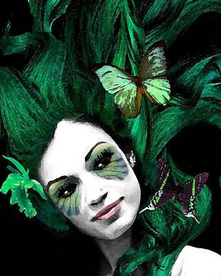 Painting - Green Goddess by Diana Shively