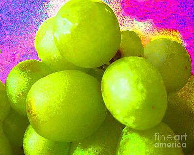 Photograph - Green Grapes Digital Art by Merton Allen