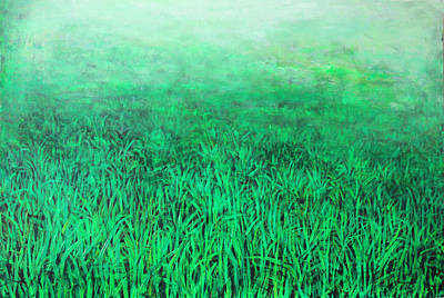 Green Grass Art Print by Lolita Bronzini