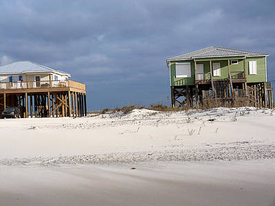 Photograph - Green House On The Beach by David Bearden