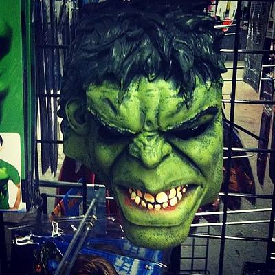 Comics Wall Art - Photograph - #green #hulk #green #mask #comic by Alex Mamutin