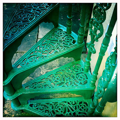 Photograph - Green Iron Stairs by Betse Ellis