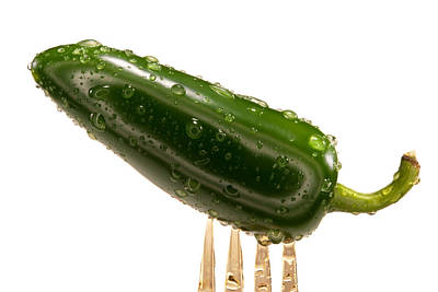 Photograph - Green Jalapeno Pepper by Johnny Sandaire
