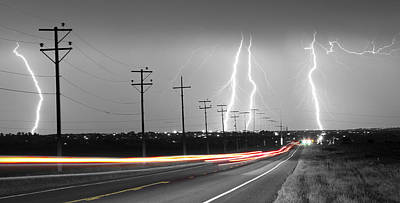 Thunder Photograph - Green Light Into The Storm Panorama by James BO  Insogna