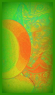 Mango Mixed Media - Green Mango Bali Style by Wendy Wiese