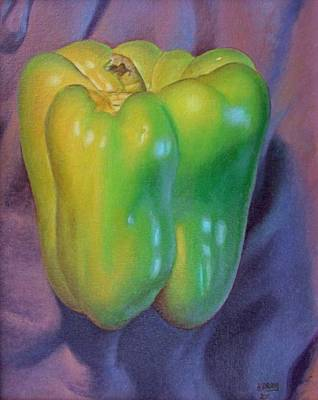 Paprika Painting - Green Pepper by Hans Droog