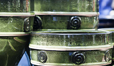 Ceramic Glazes Photograph - Green Planter Border by Teresa Mucha