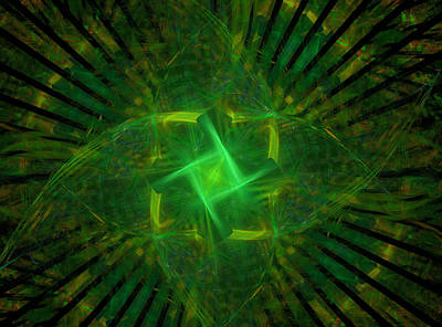 Digital Art - Green by Ricky Barnard