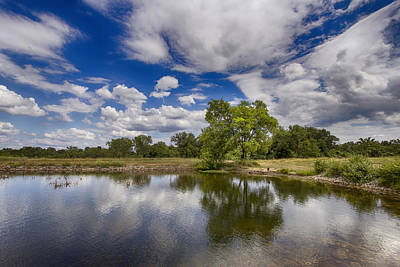 Saint Charles Digital Art - Green Scene At Lake 15 by Bill Tiepelman