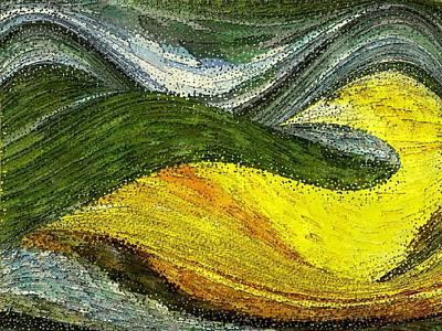 Green Sea Art Print by Tinatin Dalakishvili