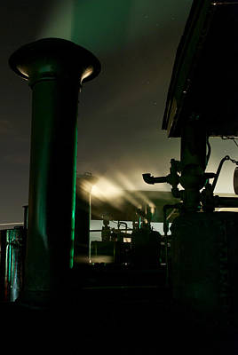 Photograph - Green Smoke And White Steam by Mark Dodd