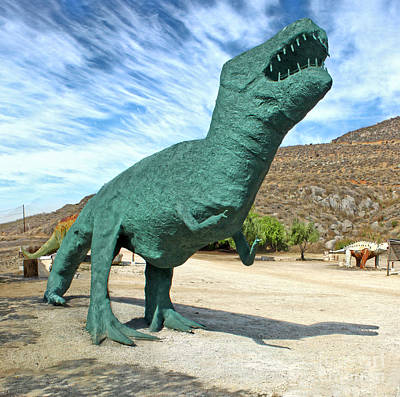 Painting - Green T-rex by Gregory Dyer