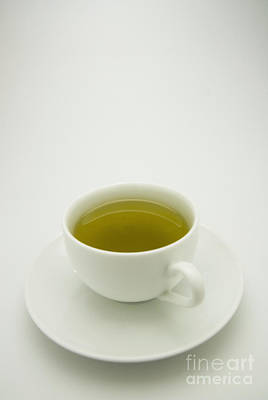 Tea Time Photograph - Green Tea In Teacup by Thom Gourley/Flatbread Images, LLC
