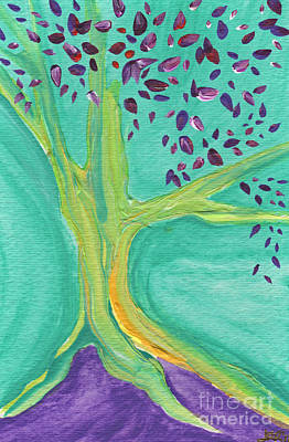 Green Tree Art Print by First Star Art