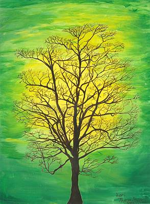Fertility Painting - Green Tree by Lori  Theim-Busch