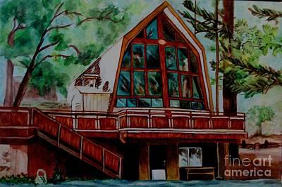 Painting - Green Valley Lake Church by LJ Newlin