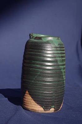 Ceramic Art - Green Vase by Rick Ahlvers
