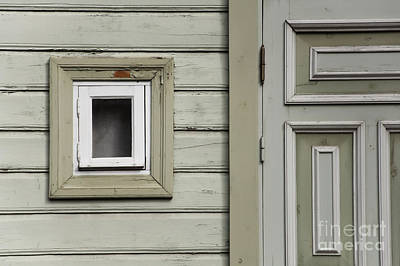 Photograph - Green Wall With Small Window by Agnieszka Kubica