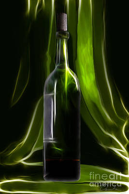 Photograph - Green Wine Bottle by Danuta Bennett