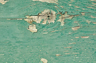 Junk Boat Wall Art - Photograph - Green Wooden Background by Brandon Bourdages