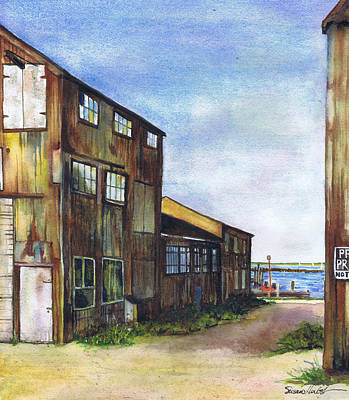Greenport Boatyard Art Print
