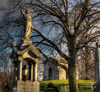 Photograph - Greenwood Cemetery  by Lee Dos Santos