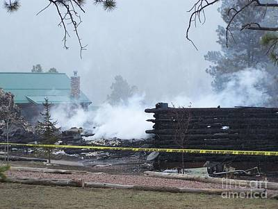 Photograph - Greer Lodge Fire by Pamela Walrath