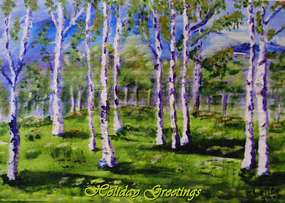 Painting - Greeting Card - Trees by Shelley Bain