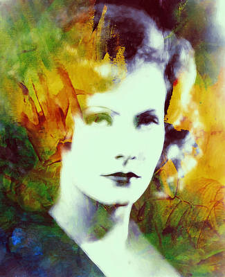 Greta Garbo Abstract Pop Art Art Print