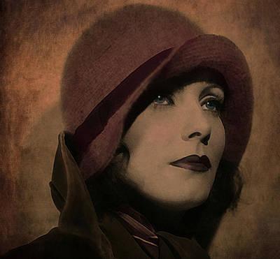 Gale Digital Art - Greta Garbo by Marie  Gale