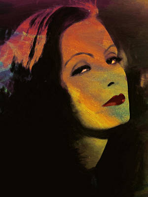 Movie Star Classic Movie Painting - Greta Garbo Pop Art by Steve K