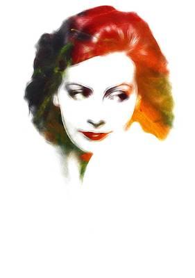 Greta Garbo Painting - Greta S Lips by Steve K