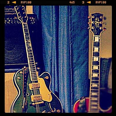 Guitar Wall Art - Photograph - #gretsch #guitar #rock #20likes by Toonster The Bold