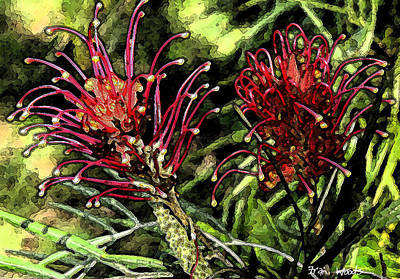 Digital Art - Grevillea by Fran Woods