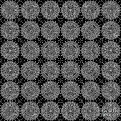 Digital Art - Grey Doily by Clayton Bruster