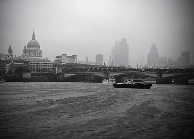 Print featuring the photograph Grey London by Lenny Carter