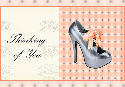 Grey Shoe Thinking Of You Art Print by Maralaina Holliday