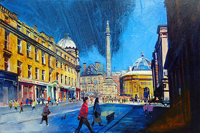 Grey Street Newcastle Art Print