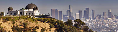 Metro Art Photograph - Griffith And Los Angeles by Ricky Barnard