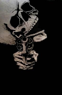 Grim Digital Art - Grin by Harmony