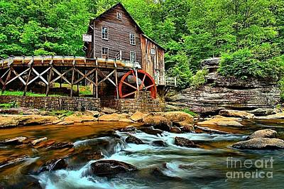 Photograph - Grist Mill At Babcock by Adam Jewell