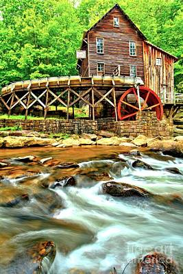 Photograph - Grist Mill In The Forest by Adam Jewell